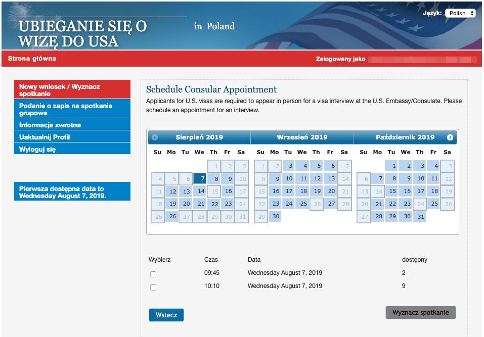 Kalendarz spotkań z konsulem USA