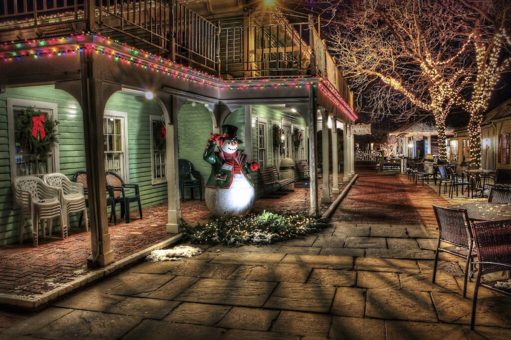 Świąteczne dekoracje w USA