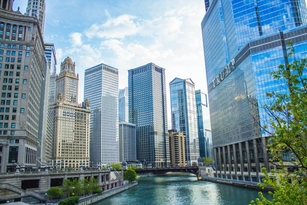 Wieżowce w Chicago, fragment Trump Tower
